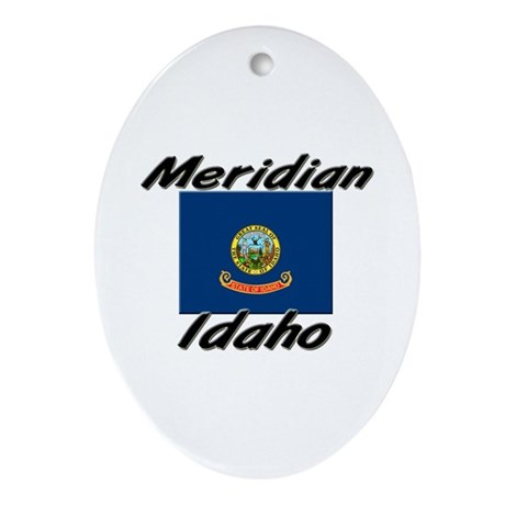 Meridian Idaho Oval Ornament
