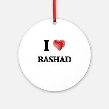 I love Rashad Round Ornament