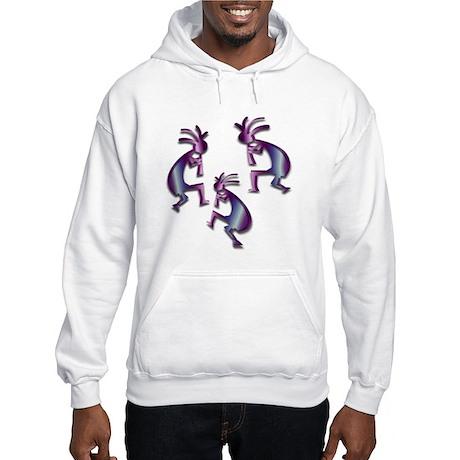 Purple & Blue Kokopelli Hooded Sweatshirt