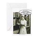 Funny student nurse Greeting Cards