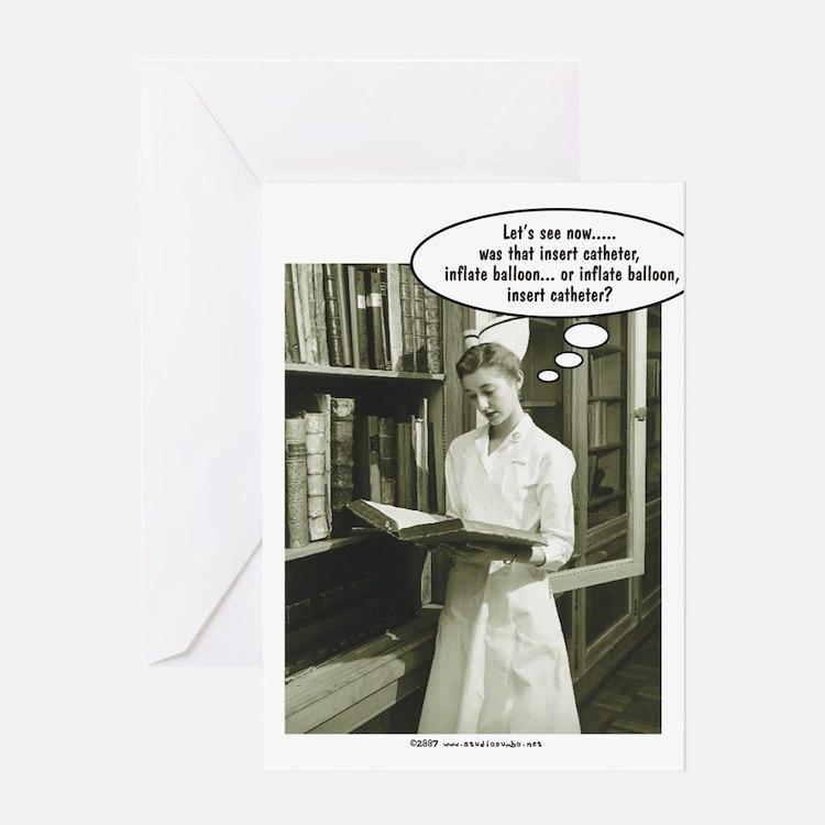 Cute Nurse sayings Greeting Card