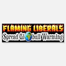 """""""Flaming Liberals"""" Bumper Bumper Bumper Sticker"""