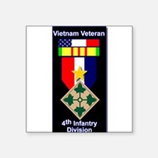 "Cute 4th infantry division Square Sticker 3"" x 3"""