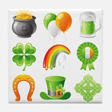 saint patricks day Tile Coaster