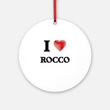 I love Rocco Round Ornament