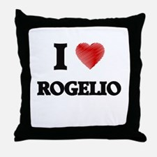 I love Rogelio Throw Pillow