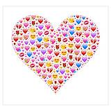 Heart emoji Posters
