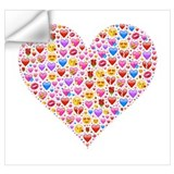 Heart emoji Wall Decals