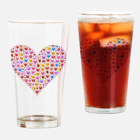 Unique Heart Drinking Glass