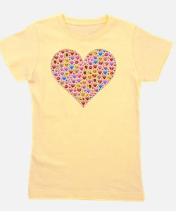 Unique Smiley faces Girl's Tee