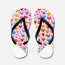 heart emoji Flip Flops