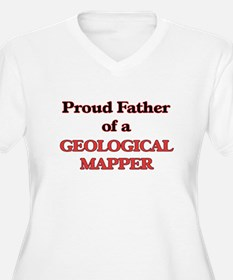 Proud Father of a Geological Map Plus Size T-Shirt