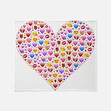 heart emoji Throw Blanket