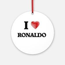 I love Ronaldo Round Ornament