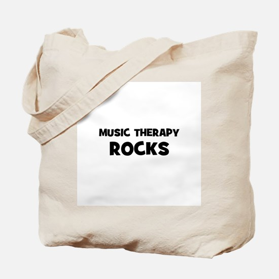 Music Therapy Rocks Tote Bag