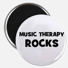 """Music Therapy Rocks 2.25"""" Magnet (10 pack)"""