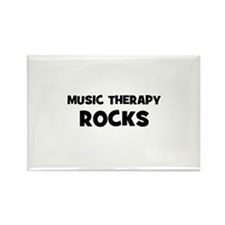 Music Therapy Rocks Rectangle Magnet