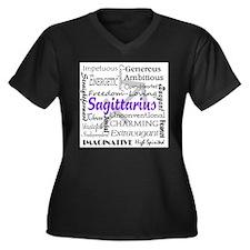 Funny Astrological Women's Plus Size V-Neck Dark T-Shirt