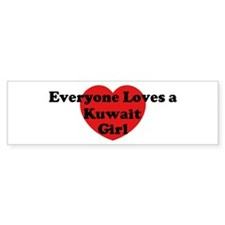 Kuwait girl Bumper Bumper Sticker