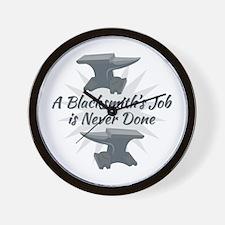 Blacksmiths Job Wall Clock