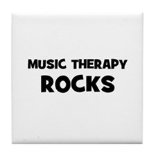 Music Therapy Rocks Tile Coaster
