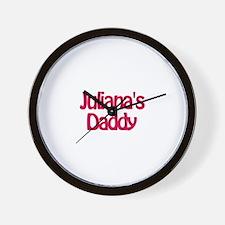 Juliana's Daddy Wall Clock