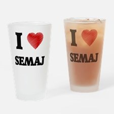 Cute Semaj Drinking Glass