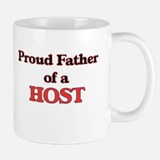 Proud Father of a Host Mugs