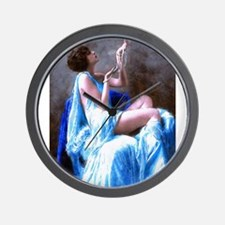 Burlesque Girl with Pearls Wall Clock
