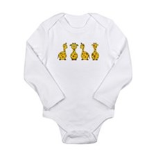 Cute Animals Long Sleeve Infant Bodysuit