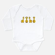 Unique Animals Long Sleeve Infant Bodysuit