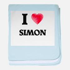 I love Simon baby blanket