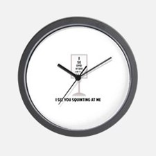 See You Squinting Wall Clock