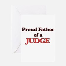 Proud Father of a Judge Greeting Cards