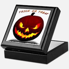 Scary Halloween Pumpkin Keepsake Box