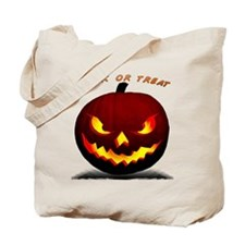 Scary Halloween Pumpkin Tote Bag