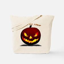 Scary Halloween Pumpkin Tote Bag