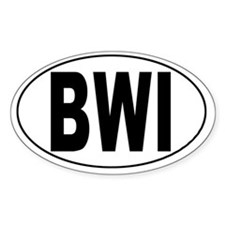 Baltimore/Washington Int'l Airport Oval Decal