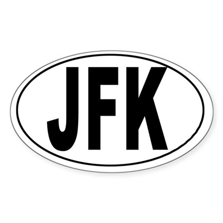 John F. Kennedy Int'l Airport Oval Sticker