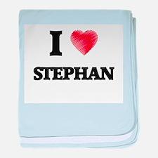 I love Stephan baby blanket