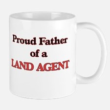 Proud Father of a Land Agent Mugs