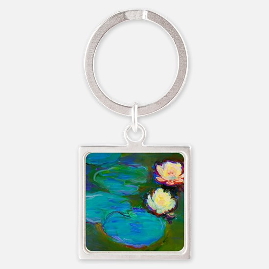 Cool Water lilies Square Keychain