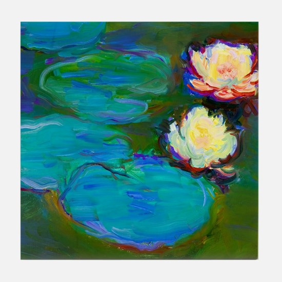 Cool Water lilies Tile Coaster