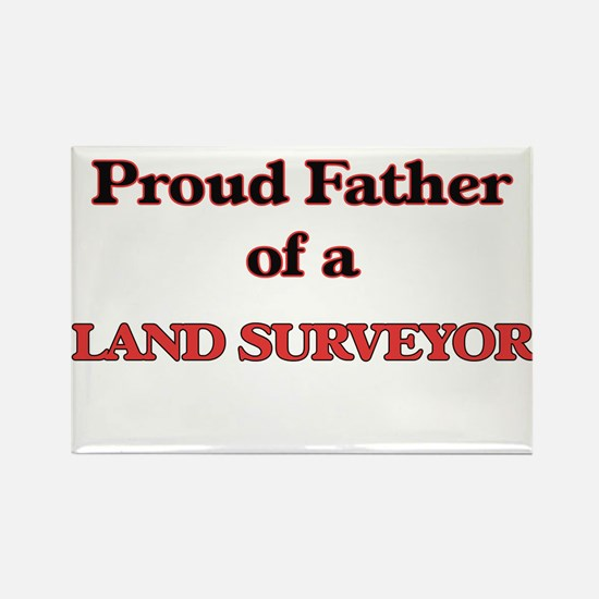 Proud Father of a Land Surveyor Magnets