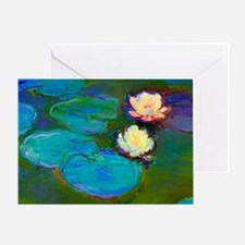 Cool Water lilies Greeting Card