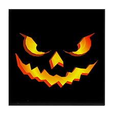 Halloween Pumpkin Face Tile Coaster