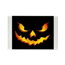 Halloween Pumpkin Face Rectangle Magnet