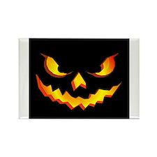 Halloween Pumpkin Face Rectangle Magnet (100 pack)