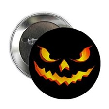 "Halloween Pumpkin Face 2.25"" Button"