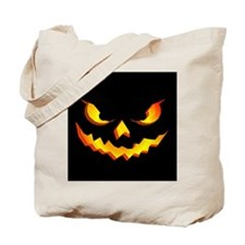 Halloween Pumpkin Face Tote Bag